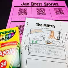 FREE Jan Brett - QR Code Listening Center which includes a response page. Includes the following stories: The Mitten The Hat 3 Snow Bears Annie & the Wild Animals