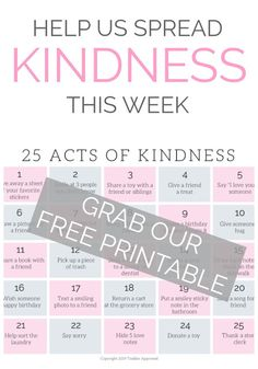 Teach your toddlers and bigger kids about kindness! Grab our free kindness printable and join in to the challenge! Kindness Activities, Calming Activities, Preschool Activities, Kindness For Kids, Kindness Challenge, Emotional Development, Life Skills, How To Introduce Yourself