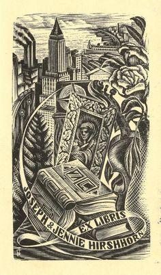 Ex libris Joseph & Jennie Hirshhorn. From New York Public Library Digital Collections.