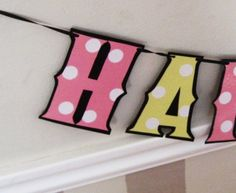 Baby Minnie Mouse Birthday Banner  HAPPY BiRTHDAY  Pink by Devany, $15.00
