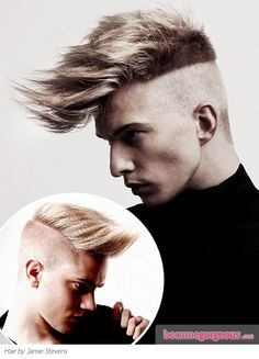 How about crimping mens hair. Its a great technique for fine mens hair. crimp the interior to create some body