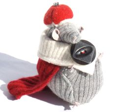 The Rat King from The Nutcracker Suite Rat King, The Villain, Vintage Buttons, Rats, Wool Felt, Plant Based, Knitted Hats, Winter Hats, Scrap