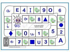 Juego de la Oca para Educación Infantil, para descargar y repasar las vocales, mayúsculas y minúsculas, los números y las figuras geométricas