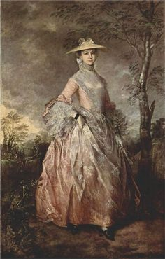 Thomas Gainsborough, Portrait of Mary, Countess Howe, ca. 1760, olieverf op doek, 244 x 152 cm, Kenwood House, Iveagh Bequest, Londen - Meer over dit schilderij: http://www.artsalonholland.nl/meesterwerken/thomas-gainsborough-portrait-of-mary-countess-howe