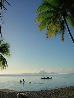 Bora Bora Island seen from Taha'a