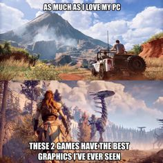 Uncharted4 & Horizon: Zero Dawn - PS4 Pro & an HDR 4K TV Funny Photos, Best Funny Pictures, Horizon Zero Dawn Aloy, Video Game Memes, Anime Furry, Ps4, Playstation, Gaming Memes, Best Graphics