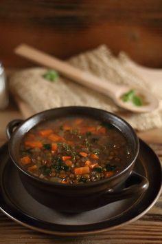 Thermoprzepisy. Fakes grecka zupa z zielonej soczewicy.