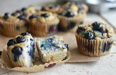 Coconut Flour Blueberry Apple Sauce Muffins