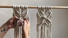 How to make a macramé flower. A fun and easy pattern to add to any macramé project. Knots : - Square knot - Loop knot or also called berry knot - Diagonal cl.Hi friends over the last two and a half years i've shared many how to diy videos as a part of Macrame Design, Macrame Art, Macrame Projects, Micro Macrame, Macrame Jewelry, How To Macrame, Macrame Curtain, Macrame Patterns, Sewing Projects For Beginners