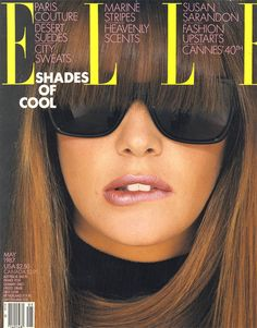 Elle US May 1987 (Cover) Model: Elle MacPherson Photographer: Gilles Bensimon Elle Macpherson, Fashion Magazine Cover, Fashion Cover, Magazine Covers, Top Année 80, Mac Verve Lipstick, Cannes, 1987 Fashion, Fashion News