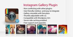 Instagram Gallery - Wordpress Plugin - https://codeholder.net/item/wordpress/instagram-gallery-wordpress-plugin