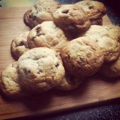 Soft and chewy choc chip cookies :)