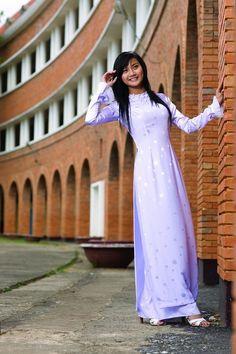 Ao dai in lovely lavender