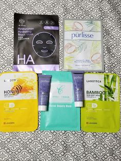 Variety Facial Masks Spa Set - 5 facial sheet masks and 2 mud mask Love Clothing, Black Mask, Sheet Mask, Facial Care, Facial Masks, Mud, Beauty Women, Face, Face Masks