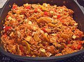 Mediterrane Zucchini - Reis - Pfanne mit Feta (Rezept mit Bild)   Chefkoch.de