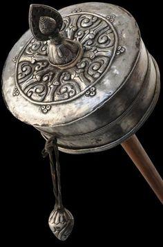 rhetthatfield:  thirty-six-stratagems:  Tibetan Silver Prayer Wheel Khor  (via TumbleOn)