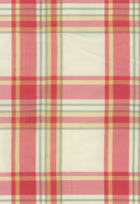 3457001 Birmingham Silk Plaid Berry by F Schumacher