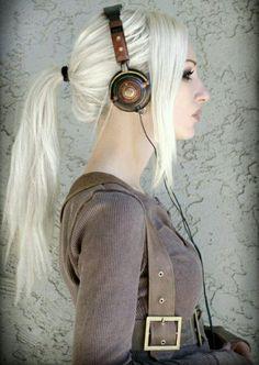 Kato in steampunk headphones