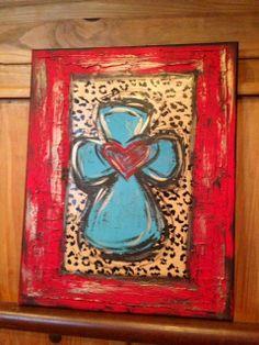 Textured Cross Art on Etsy, $125.00