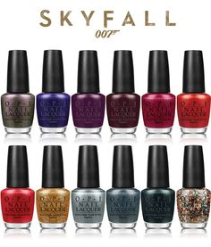 O.P.I. Skyfall collection. Probably the best collection I've seen in a while. Love the last two on the bottom right, my favs!