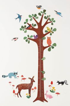 Wallies Woodland Growth Chart - Anthropologie.com- I love this so much I want to buy another.