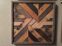 Arte de pared madera reciclada Natural Barnwood edredón