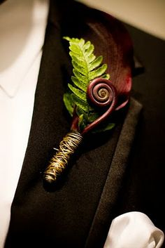 I would love to incorporate fiddlehead ferns into the bouquet and bout too:
