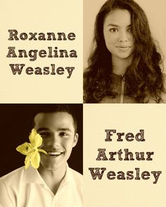 Harry Potter the Next Generation, George and Angelina Weasley kids: Roxanne Angelina - Jessica Sula, Fred Arthur - Jacob Artist.