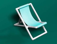 PVC Beach Chair. Instead of the fabric sling, crochet one.