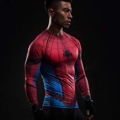 Spiderman Cool 3D Printed Spiderman Long Sleeve Shirt