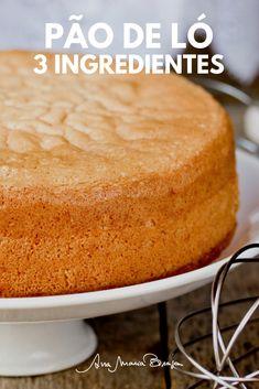 Sabe aquela massa de bolo que funciona com qualquer recheio. Anote (e faça) a receita deste pão de ló que usa apenas 3 ingredientes!