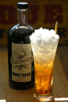 Ice Cream-less Rootbeer Cocktail Float | Labor Day weekend should be all about BBQs, college football, and root beer. And by root beer, we mean the unbelievable Blackmaker Rootbeer Liqueur. As soon as you open the bottle your mouth will begin to water and you'll start conjuring up all the cocktail recipes you be able to mix with this spirit. You may even be shocked about how much this liqueur tastes exactly like root beer – but without the fizz. | From: bevmothirstytimes.com