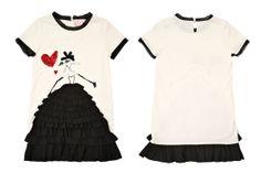 @LANVIN Paris Petite Spring Summer 2014 black cardigan and white dress #black #lanvinpetite #SS14 #spring #summer #springsummer2014 #childrens #kids #childrenswear #kidswear #kidsfashion #girls
