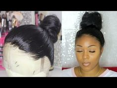 """How I Re-Create A """"PERFECT HAIRLINE"""" On 360 Lace Wig- { START TO FINISH CUSTOMIZATION} ft. UUHAIR - YouTube Fancy Hairstyles, Weave Hairstyles, Wedding Hairstyles, Black Hairstyles, Protective Hairstyles, Natural Hairstyles, Protective Styles, 360 Lace Wig, Lace Wigs"""