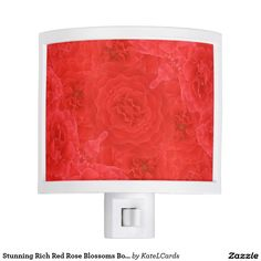 Stunning Rich Red Rose Blossoms Bouquet Fusion Night Lite