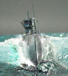 U-Boot Typ VII/D Scale Model Ships, Scale Models, Boat Pics, Model Sailing Ships, Tilt Shift Photography, Norwegian Elkhound, Military Action Figures, Modeling Techniques, Naval