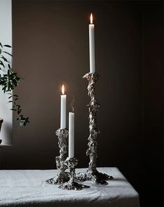 Drip Candle holder is design by Pascal Smelik. Choose between three sizes. Candle Holder Decor, Metal Candle Holders, Christmas Trends, Beautiful Interior Design, Candle Lanterns, Scandinavian Interior, Candlesticks, Candleholders, Interior Styling