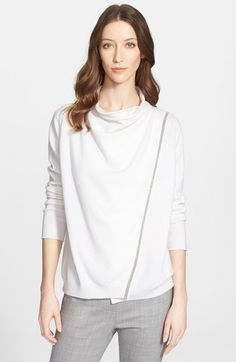 Fabiana Filippi Cowl Neck Sweater available at #Nordstrom