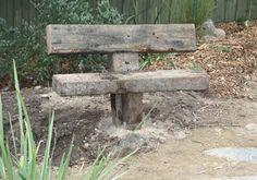solid garden seat made from recycled railway sleepers - Modern Garden Deco, Veg Garden, Garden Art, Garden Design, Garden Paths, Railway Sleepers Garden, Garden Bench Plans, Small Yard Landscaping, Diy Garden Furniture
