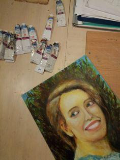 Первый портрет маслом. Все какое-то не такое, но сойдет. В след. раз постараюсь чуть больше. #art #darkair