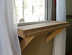 New! This natural hardwood cat window perch is the perfect spot for your cat to gaze outside. Choose natural wood or clear finish. Choosing the clear finish option may add up to one week to the turn around time. The perch attaches to your window sill without hardware or