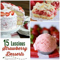 15  Luscious Strawberry Desserts