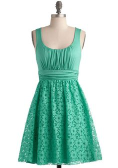 Peppermint Iced Tea Dress, #ModCloth // I want this one and the funny thing is, I have this dress in the Navy Blue and the Red Coral already! It's the most comfiest dress I own and definitely flatters every body type!