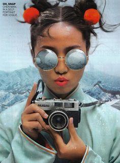 Self Portrait for Vogue February 2012 (American Vogue).  Chen Man.