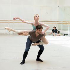 Sarah Lamb and Alexander Campbell rehearsing Connectome - Royal Ballet