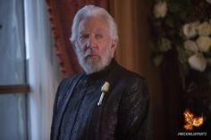 President Coriolanus Snow waits out the rebellion in the comfort of his mansion. #MockingjayPart2