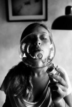 bubble | blow bubbles | black  white | photography | fun | simple | art | love | www.republicofyou...