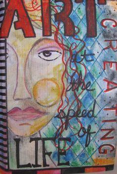 Art Journal Cover from http://paintonmywalls.blogspot.com/