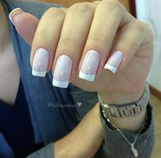 Make an original manicure for Valentine's Day - My Nails French Manicure Acrylic Nails, French Manicure Designs, French Nail Art, Nail Manicure, Nail Designs, Long French Nails, Color French Manicure, Manicure Colors, Nail Colors
