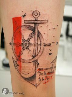 Now that's an anchor tattoo